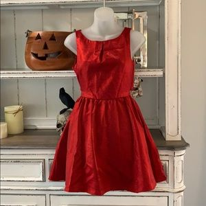 Lucca Couture Back Shiny Red Party Dress -110-